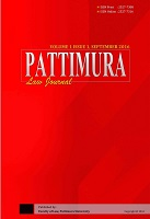 Pattimura Law Journal