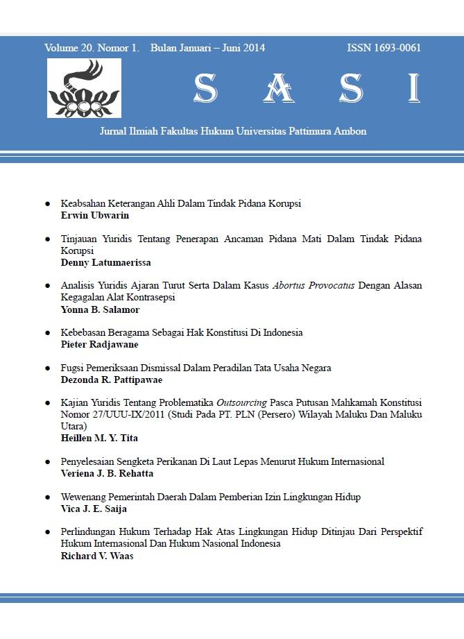 Volume 20 Nomor 1, Januari - Juni 2014