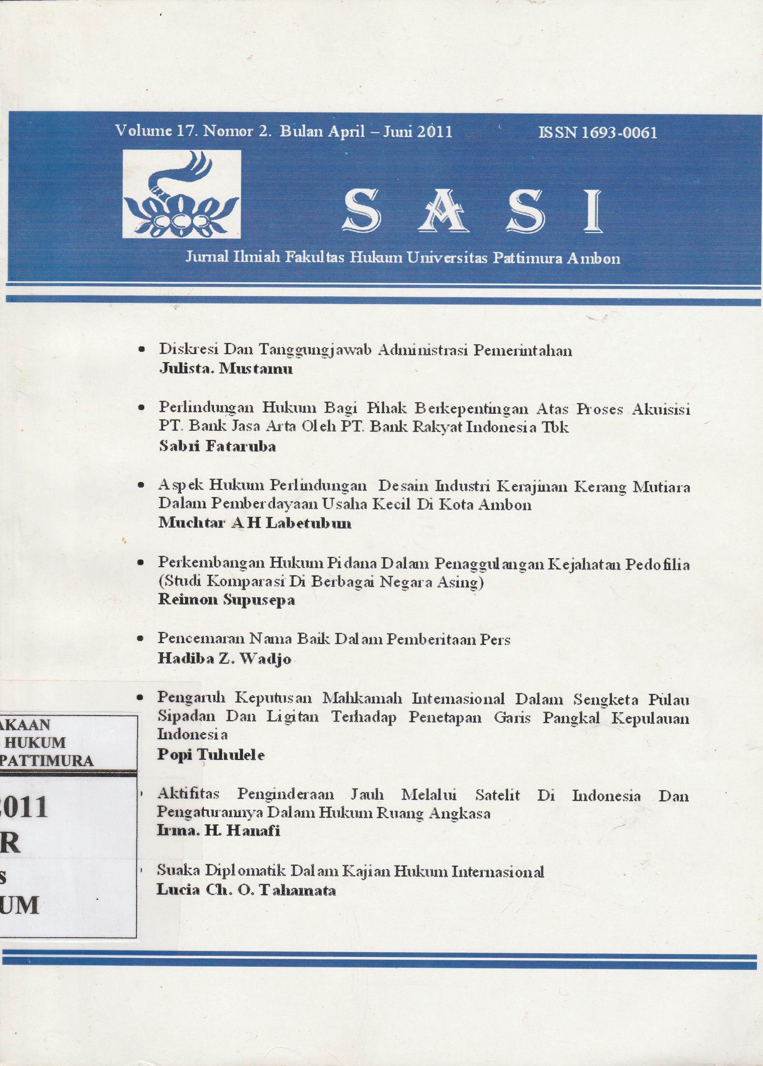Volume 17 Nomor 2, April - Juni 2011